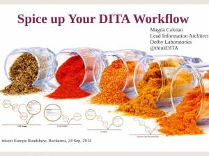 Spice up your DITA workflows