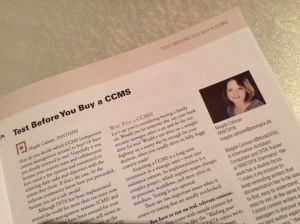 Article in Best Practice Oct.15