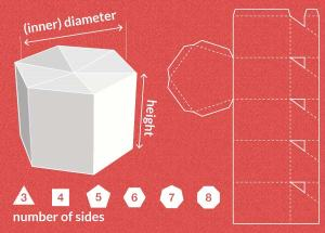 Folding-box template from templatemaker.nl