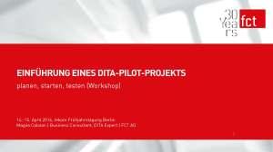 DITA Pilotprojekt tekomFj16