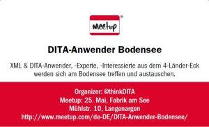 DITA-Anwender Bodensee erste Meetup-Gruppenkarte