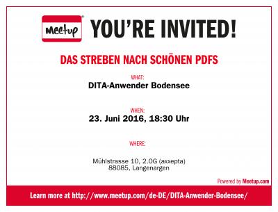 Einladung DITA-Anwender Bodensee Meetup