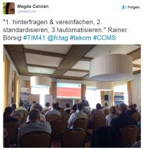 1. Hinterfragen, Vereinfachen 2. Standardisieren 3. Automatisieren! (Rainer Börsig)