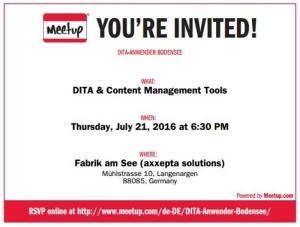 Meetup Einladung Juli 2016