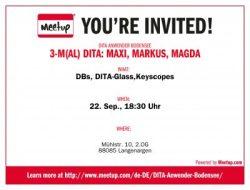Meetup-Einladung Sep. 2016: 3-M(al) DITA