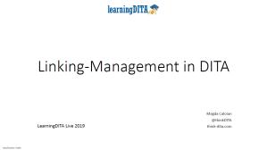 DITA Link Management - cover